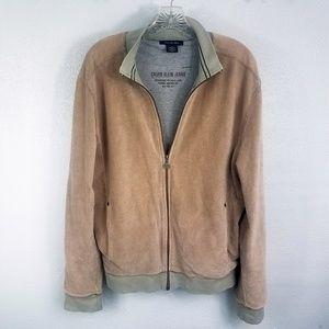 Calvin Klein Jeans Men's Lined Zip Up Coat Jacket